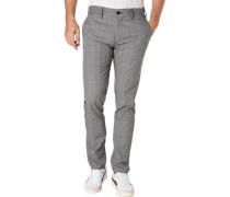 Hose, Glencheck-Muster, Extra Slim Fit, für Männer, 010 gr/bl, W34/L32