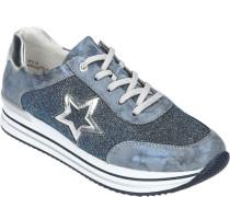 Sneaker, Plateau-Sohle, Glitzer-Effekt,