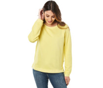 Sweatshirt, Baumwolle, 3D-Print, lockere Passform, für Damen, 204yellow, S