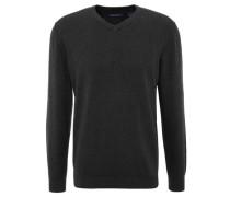 Pullover uni V-Ausschnitt
