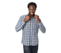 Freizeithemd, Modern Fit, Karomuster, Button-Down-Kragen