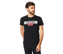 T-Shirt Baumwolle Print Rippblende