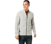 Strickjacke, meliert,