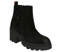 "Boots ""Calista"" Wildleder Reptil-Detail"