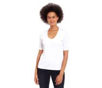 T-Shirt Bio-Baumwolle Halbarm V-Ausschnitt uni