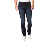 "Jeans ""Glenn"", Slim Fit, Waschungen, Label-Patch"