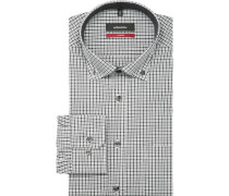 Businesshemd, 1/1-Arm, Button Down, Modern Fit, /weiß, 45