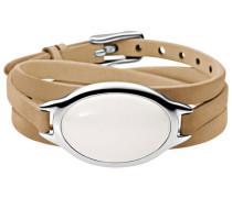 """Armband Sea Glass """"SKJ0647040"""" Leder/Edelstahl"""