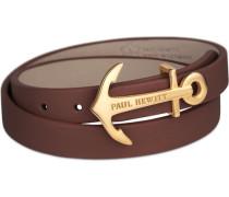 Wickelarmband Leder Gr. M /gold