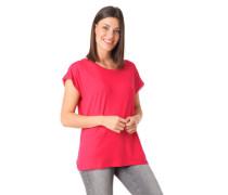 T-Shirt überschnittene Schulter Spitzen-Einsatz