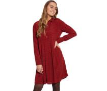 Kleid, Allover-Print, mit hoher Knopfleiste, für Damen, 40
