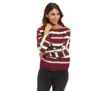 Hemdbluse Baumwolle gestreift Raffung mit Schleifen-Detail