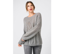 Pullover im Strickmuster-Mix