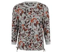 Langarmshirt, floraler Print, Rundhalsausschnitt,