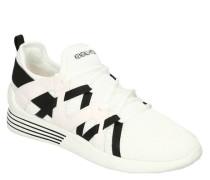Sneaker zweifarbig Schnürung Marken-Schriftzug