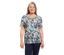 T-Shirt Bio-Baumwolle Rundhalsausschnitt florales Muster