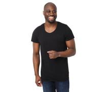 T-Shirt Regular Fit Baumwolle Rollsaum-Abschlüsse