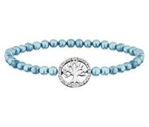 Armband Perlen Aqua Baum Silber  Zirkonia JJBR10197.1.47