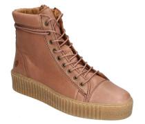 "Sneaker ""Rosa"" Plateau Reißverschluss Leder"