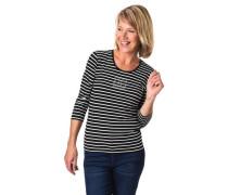 Shirt 3/4-Arm gestreift Strass