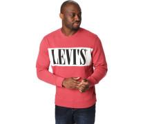 Sweatshirt, Kontrastfarbe, auffällig großes Front-Logo, Rippbündchen, sportiv,