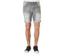 Jeans-Shorts, Baumwoll-Mix, Waschung, Patches, Emblem