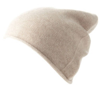 Mütze Strick Kaschmir Rollsaum für