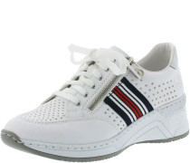 Sneaker, Stoffband, Reißverschluss, schnürbar,