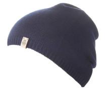 Mütze Material-Mix Feinstrick Emblem