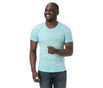 T-Shirt Melange Streifen-Struktur Baumwolle