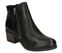 Boots, Glattleder, Fleece-Futter, Blockabsatz, uni