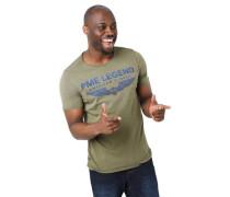 T-Shirt Logo-Print Rollsaum