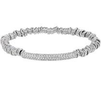Stretch-Armband mit Kristallen rhodiniert
