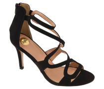 Sandaletten Reißverschluss an Ferse Velours