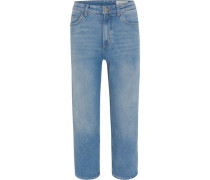 Jeans, 7/8, Straight Fit, High Waist,