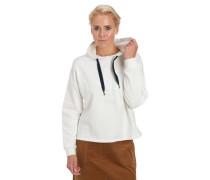 Sweatshirt Baumwolle Kapuze Rippbündchen an Ärmeln