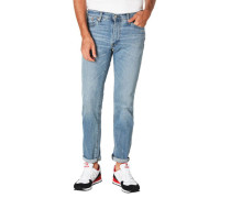 Jeans, Slim Fit, Baumwoll-Mix, Stretch, Waschung