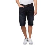 Jeans-Shorts Regular Fit Waschung Gürtel