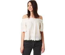 """Carmen-Shirt """"Luna"""", Cold-Shoulder, Häkelspitze,"""