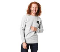 Sweatshirt Melange Marken-Detail Baumwoll-Mix