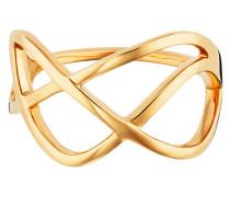 Ring 925/- Sterling Silber vergoldet geschwungen