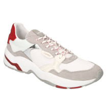 XL-Sneaker Leder-Partien Mesh Metallic-Details Patch