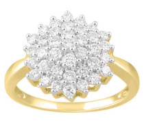 Ring Gelb 5 mit Diamanten zus. ca.  ct