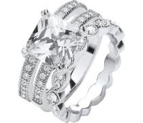 Ring 3-reihig mit Kristallen