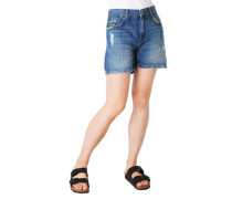 "Jeans-Shorts ""Mable"", Used Look, Kontrast-Nähte"