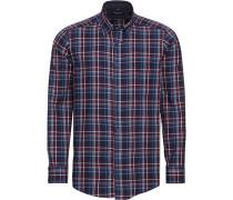 Freizeithemd Cashmere Feeling, 1/1 Arm, Button Down, Comfort Fit, /bordeaux, XL