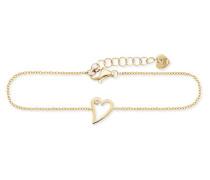 Armband 5/- Sterling Silber vergoldet Zirkonia Herz
