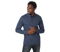 Polo-Shirt reine Baumwolle Brusttasche meliert