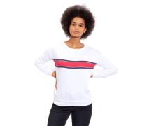Sweatshirt Baumwoll-Mix Rundhalsausschnitt