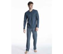 Herren, Pyjama lang Relax Streamline